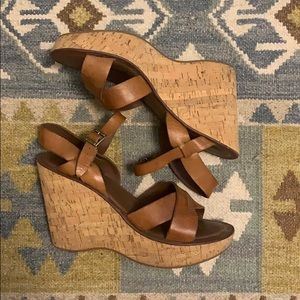 Kork-Ease Wedges with Brown Leather Strap